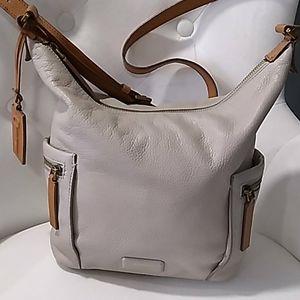 Fossil off white leather shoulder bag